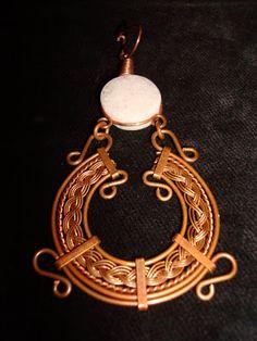 ArteVibration: Brincos Artesanais Trabalho em cobre com uma onix pampita da Argentina e tranças e todos os detalhes feitos a mão