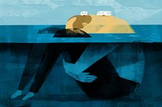 Illustration by Keith NegleyforNYT Graham Swift's Wish You We're Here - a novel about a man who owns an RV park on an island a...