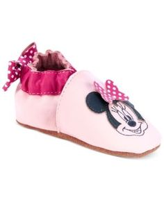 Robeez Baby Girls' Disney Minnie Mouse Shoes - Pink 0-6 months