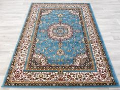 Teal Traditional Turkish Rug Size: 120 x 170cm