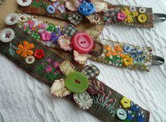 Textile Jewelry, Fabric Jewelry, Beaded Jewelry, Handmade Jewelry, Jewellery, Fabric Brooch, Fabric Yarn, Fabric Bracelets, Cuff Bracelets