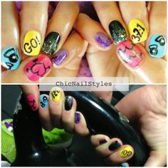 I got inspiration from WodLove for these nails...a totally awesome Crossfit clothing company! #crossfitnails #crossfitmani #crossfit