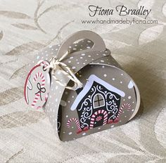 Candy Cane Lane - Curvy Keepsake Boxes - Stampin Up - Fiona Bradley: Stampin Up Christmas, Handmade Christmas, Christmas Cards, Xmas, Candy Crafts, Paper Crafts, Fancy Fold Cards, Pillow Box, Stamping Up