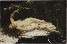 Woman with a Parrot, Gustave Courbet (French,1819–1877)