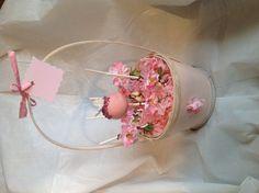 Cake pop flower basket