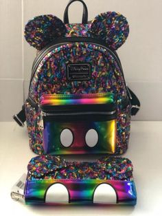 aae5ee9b6386 Mickey Mouse Rainbow Mini Backpack by Loungefly