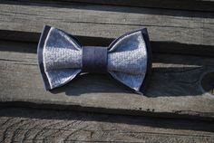 Embroidered bowtie Taupe pretied bowtie от accessories482 на Etsy