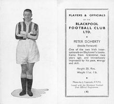 Peter Doherty of Blackpool in 1935.