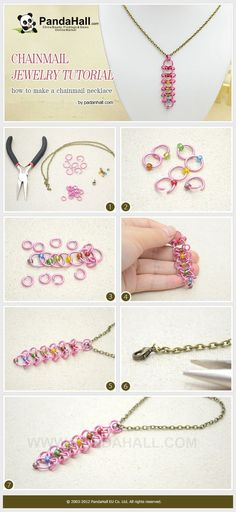 Tutorial - How to Make a Rainbow Chainmail ...   Jewelry Making Tutor…