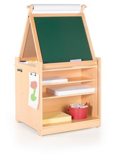 Guidecraft Desk to Easel Art Cart, Natural, Beige Kids Store, At Home Store, Playroom Furniture, Furniture Stores, Playroom Table, Bedroom Table, Bedroom Decor, Playroom Storage, Furniture Ads