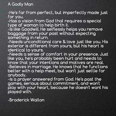 A Godly man