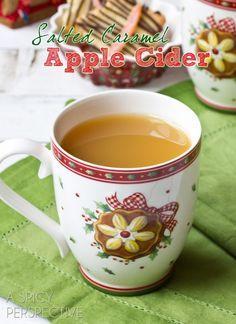 Salted Caramel Apple Cider #christmas #holiday #winter