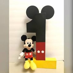 Perfect photo prop for your little ones Mickey Mouse Birthday party! Festa Mickey Baby, Theme Mickey, Mickey Party, Elmo Party, Dinosaur Party, Luau Party, Mickey 1st Birthdays, Mickey Mouse First Birthday, Mickey Mouse Clubhouse Birthday Party