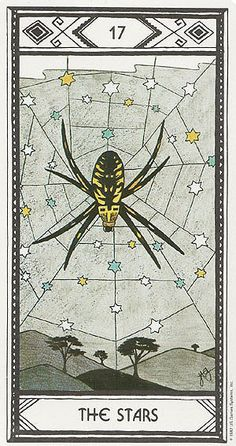 The Stars Tarot Card Art | Native American Tarot Deck | Modern Oracle Cards | Divination | Spider in Web