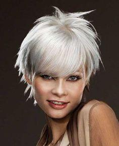Silver Short Sassy Hair