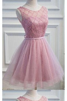 ec52943b52e8 Elegant Pink Lace Appliques Satin Off The Shoulder Homecoming Dress Short  Prom Dress