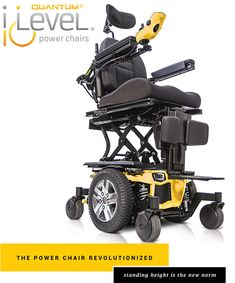 The Quantum iLevel® Power Chair moves at mph while fully elevated. Change your life with this custom power wheelchair featuring iLevel® technology. Wheelchair Ramp, Powered Wheelchair, Activities Of Daily Living, Medical Design, Cerebral Palsy, Gmc Trucks, Chair Design, Outdoor Power Equipment