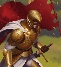 ArtStation - Commander, Mohammad Z. Fantasy Male, Fantasy Armor, High Fantasy, Medieval Fantasy, Fantasy Character Design, Character Concept, Character Art, Dnd Characters, Fantasy Characters