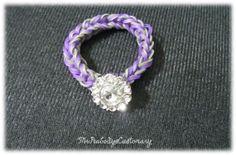 Button Bracelet Rainbow Loom  stretchy by MrPeabodysCustomary, $4.49