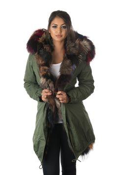 blue fur parka coat | Beautiful things to wear | Pinterest | Coats ...