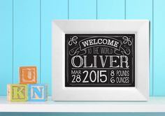 Chalk Board  Personalized Baby Gift  Ceramic Plate by TheDishyDish