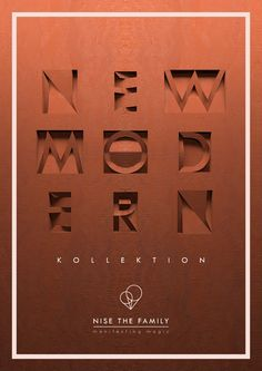 New Modern Kollektion - Nise The Family 3d Design, Branding, Cover, Interior, Collection, Tri Fold Poster, Brand Management, Design Interiors, Interiors