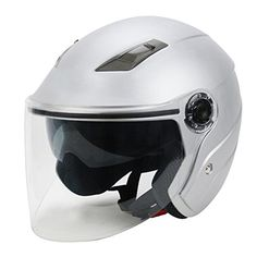 Special Offers - S-Raw Dual Lens Helmet DOT Motorcycle Helmet 3/4 Open Face Helmet Scooter Helmet #Matte Silver L - In stock & Free Shipping. You can save more money! Check It (June 18 2016 at 04:33PM) >> http://bestsportbikejacket.com/s-raw-dual-lens-helmet-dot-motorcycle-helmet-34-open-face-helmet-scooter-helmet-matte-silver-l/