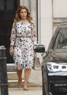 Princess of Jordan Haya Bint al-Hussein Princess Haya, Royal Jordanian, Claudia Lars, Jordans, Style Inspiration, Shirt Dress, My Style, Royals, Cloths