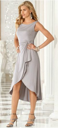 Draped dinner dress - perfect for the holidays!