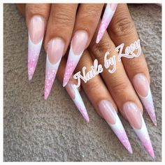 @pelikh_Stiletto nails pink acrylic my work! Nailsby Zoey