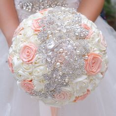 Find More Wedding Bouquets Information about Ivory & coral ribbon roses  bridal brooch bouquet Wedding bridesmaid bride holding flowers Pearl embellishment bouquets,High Quality ribbon tie up heels,China rose ribbon Suppliers, Cheap ribbon grosgrain from Brooch bouquets custom store on Aliexpress.com http://www.aliexpress.com/store/product/Ivory-coral-ribbon-roses-bridal-brooch-bouquet-Wedding-bridesmaid-bride-holding-flowers-Pearl-embellishment-bouquets/621238_32550149909.html