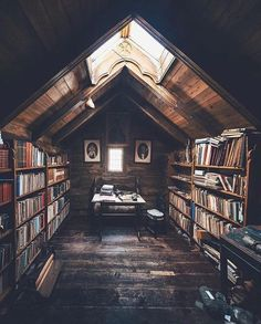 Trendy home library loft attic rooms Ideas Future House, My House, House Art, Kids House, Library Room, Dream Library, Cozy Library, Beautiful Library, Little Library