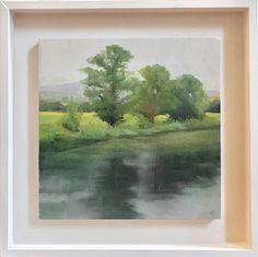 Maria Levinge Landscape Soft Morning - Jorgensen Gallery Irish Landscape, List Of Artists, Source Of Inspiration, Contemporary Art, Gallery, Artwork, Painting, Work Of Art, Roof Rack