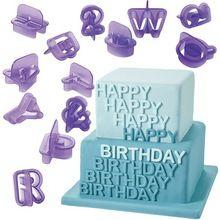 Newest 40 Pcs/set Number Letters Happy Birthday Plastic Fondant Cake Decoration Tools free shipping(China (Mainland))