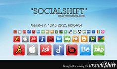 SocialShift - Social Networking Icons