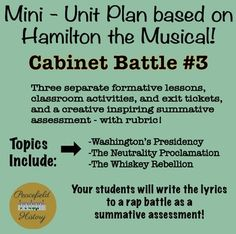 free hamilton the musical task cards for cabinet rap battle 1 to engage them all free. Black Bedroom Furniture Sets. Home Design Ideas