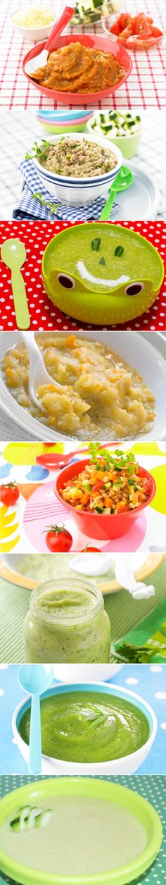 Recettes pour bébé à la courgette. Plus de recettes pour bébé sur www.enviedebienmanger.fr/idees-recettes/recettes-pour-bebe