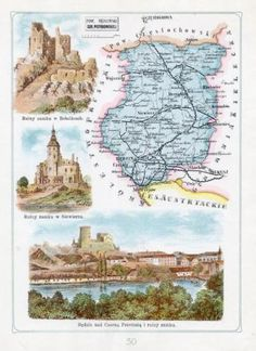 B-dzin-Bobolice-Siewierz-1907-Poland-Polen-50-POW-B-DZI-SKI-GUB-PIOTRKOWSK Commonwealth, Coat Of Arms, Poland, Skiing, Vintage World Maps, Coats, Ebay, Art, Ski