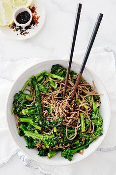 Rapini Noodle Bowl — vegan and gluten-free