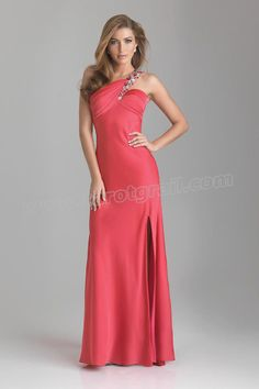 Backless Red Prom Dress with Sexy Slit