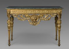 Hall Table Artist/maker unknown, Italian Geography: Made in Italy, Europe Date: c. 1780 Medium: Gilded wood; marble top