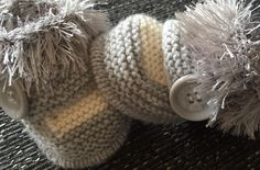 Unisex baby booties Newborn Hand Knitted By Annie | eBay