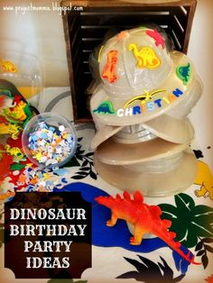 Project: Mommie: A 6-Years-Old Dinosaur Dig and Excavation Pit Puzzle Birthday Party! For little Paleontologists!