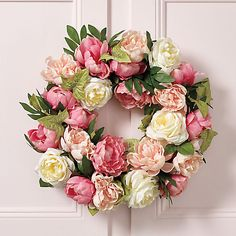 Buy Peony Rose Wreath online at Gump's