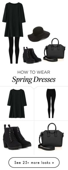 """basic little black dress"" by httpunbrxcken on Polyvore featuring M&S Collection, Givenchy, Call it SPRING and Topshop"