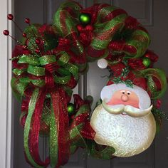 31 Deluxe Deco Mesh Christmas Wreath with TIN by LDivasBowtique, $155.00
