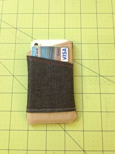 Handmade iPhone 4/4S Sleeve with Card Pocket