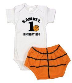 Boys 1st Birthday Party Ideas, Baby Boy 1st Birthday, 1st Birthday Outfits, Birthday Pictures, Birthday Parties, Baby Boy Basketball, Basketball Party, Basketball Birthday, Letter Monogram