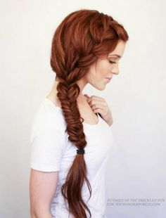 For girls with super-long hair, this boho-chic braid from The Freckled Fox is the perfect style for prom. #Prom #Hairstyles