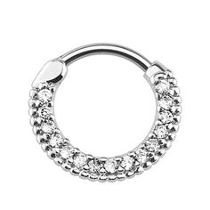 Curved Post Septum Clicker with 15 Gems